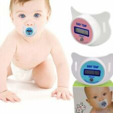Digital LCD Thermometer Baby Infant Kid Dummy Pacifier Soft Nipple Temperature