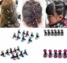 12Pcs Wholesale Cute Crystal Rhinestone Flower Mini Hair Claws Clips Clamps New