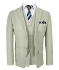 Boys Beige Suits Page Boy Wedding Communion Suit in Beige Boys Beige Prom Suit