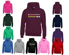 COMMODORE 64 Kids COMPUTER Hoody (C64) Retro 80s Video Game Christmas PullOver