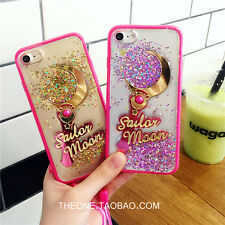 For iPhone 7 7 Plus 6 6S Fashion Sailor Moon Magic Wand Glitter Bling Case Cover