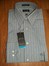 NWT Mens Dress Button Front Shirt by Arrow, Sz. 15 1/2  Gray, Sleeve 34/35