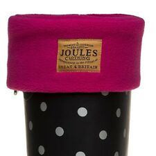New Womens Joules Pink Welton Polyester Welly Socks