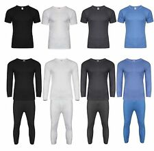 Mens Thermal Long Johns Short Sleeve T-Shirts Winter Warm Thermal Underwear Heat