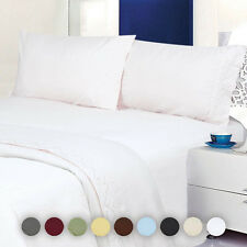 Deluxe Hotel Quality Egyptian Comfort Embroidered 4 Piece Sheet Set