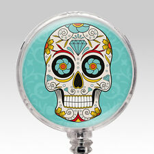 Nurse ID Badge - ID Holder Clip Retractable Name Badge Reel - Day of the Dead 5