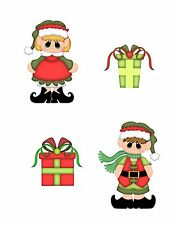 Christmas Elves Scrapbook die cut Embellishment 3-D Piecing