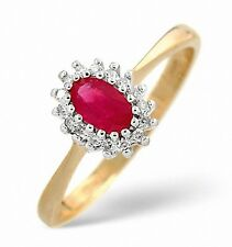 Ruby and Diamond Ring Yellow Gold Engagement Size F - Z Appraisal Certificate