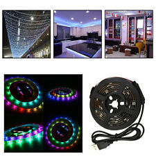 WS68 12 RGB 5050 SMD Waterproof Flexible USB 5V LED White Strip Lamps Light WG
