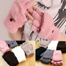 Unisex Women Men Knitted Fingerless Winter Gloves Soft Warm Mittens 1 PAIR