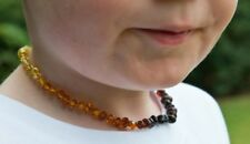 Child Rainbow Bright Mixed Baltic Amber Necklace Love Amber X Genuine Uk Seller