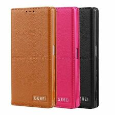 Fashion Flip PU Leather Wallet Card Case Cover Stand For Sony Xperia Z5 Z5 Plus