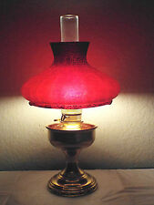 GONE WITH THE WIND VINTAGE 3WAY ALADDIN ELECTRIC BRASS OIL BURNER HURRICANE LAMP