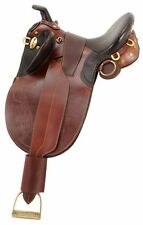 Australian Outrider Collection Stock Poley Saddle with Horn Wide Tree