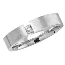 Wedding Ring Wedding Band Sterling Silver 4mm With Stone