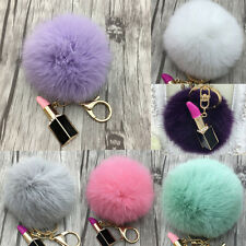 Keys Ring Chain Phone Car Handbag Bag DIY Hanging Pendant With Fur Pom Pom Ball
