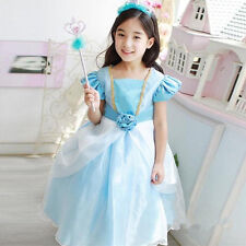 Kids Girls Cosplay Dress Costume Princess Perform Christmas Children Clothes L0