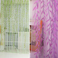 Hotel Room Voile Window Wicker Sheer Drapes Curtain Divider 1M*2M Willow Twig