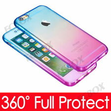 Shockproof 360° Full Body Silicone Protective Clear Case Cover For Apple iPhone