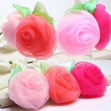Lovely  Baby Girls Chiffon Rose Flower Hair Clip Hairpin for Kids Toddler UI