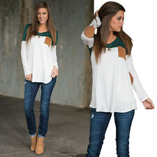 New Women Fashion Blouse Casual Loose Long Sleeve Blouse Tops Summer T-shirt
