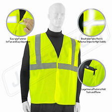 XL ANSI CLASS 2/ Reflective Tape/ High Visibility Yellow Safety 5 Vest