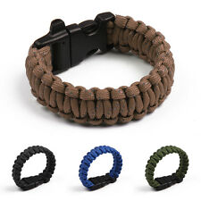 Reflective Rope Outdoor Rope Paracord Survival Gear Kits Bracelet with Whistle