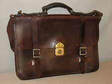 FILSON Brown Bridle Leather Briefcase Messenger Bag Made in USA