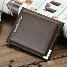 Men Wallet PU Leather Bifold Cards Holder Credit Card The Slot Coin Pocket Purse