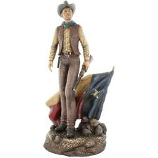 Texas Flag Cowboy With Rifle Western Rustic Decor Figurine Statue