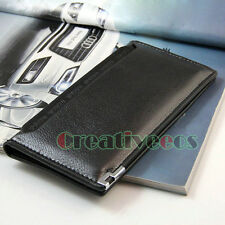 Men's PU Leather Bifold Long Wallet Pockets Credit/ID Card Clutch Coin Purse New