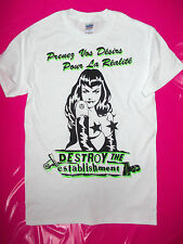 PUNK ROCK punk white t-shirt BOY seditionaries style repro 77  punk all sizes