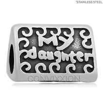 STAINLESS Steel European Charm Bead My Daughter My Love My Friend Christmas Gift