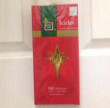 "NEW Brite Star 18"" 500 Strands of Gold Icicles Christmas Tree Tinsel"