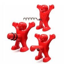 Funny Guy Happy Man Soda Wine Bottle Novelty Opener Stopper Corkscrews Bar Tools