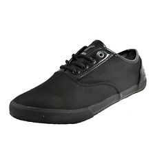 Voi Jeans Fiery Patent Mens Casual Designer Plimsoll Trainers Black