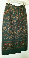 TALBOTS MOCK WRAP LINED SKIRT - SIZE 10 - GENTLY WORN!!!