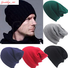 Men's Womens Couple Beanie Knit Cap Ski Hip-Hop Warm Unisex Wool Winter Hat Gift