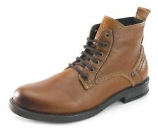 Wrangler Cliff Mid Mens Ankle Leather Tan Brown Lace Up Boots Microfiber
