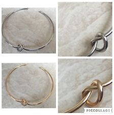 Silver/Gold Plated Heart Knot Collar Choker Adjustable Necklace Strength Symbol