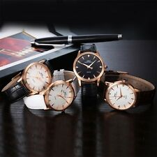Analog Quartz Casual Unisex Leather Watch Wrist Strap Mate Watches Fashion FQ