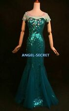 J949 FROZEN FEVER Elsa dress only, no cape  cosplay