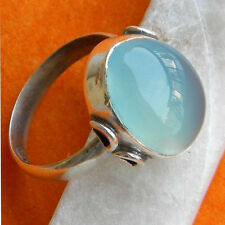 CHALCEDONY SOLID 925 PURE STERLING SILVER HANDMADE RING CUSTOM SIZE 5,6,7,8,9