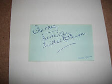 MICHAEL DENISON ACTOR & TONY WAITERS EX BLACKPOOL SIGNED AUTOGRAPH BOOK PAGE