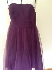 Davids Bridal Plum Tulle Cocktail Size 16 Strapless Formal Dress NWT Never Worn