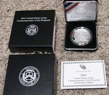 2011 United States Army Commem Proof Silver Dollar, Packaging, CoA