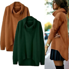 Womens Long Sleeve Knitted Cardigan Loose Sweater Outwear Coat Casual Sweater