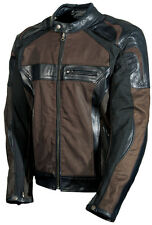 AGV Sport Compass Waxed Cotton Leather Jacket Black