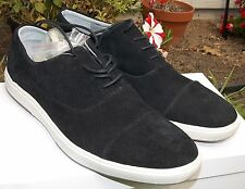 66% OFF NEW Mens CALVIN KLEIN Lawrence Suede Sneaker Black Retail $120