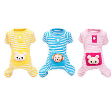 Fashion Small Pet Cat Puppy Dog Stripes pajamas Coat Clothes Clothing Outwear